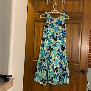 Blue and green girls dress